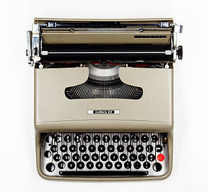 Olivetti - The Olivetti Lettera 22 typewriter, designed by Marcello Nizzoli in 1950