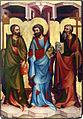 Oltář třeboňský, Sv.Jakub Mladší, sv.Bartoloměj, sv. Filip, Národní galerie v Praze.jpg