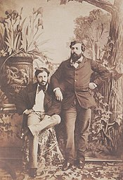 Olympe Aguado, Self Portrait with His Brother Onésipe 1853.jpg