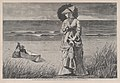 On the Beach – Two are Company, Three are None – Drawn by Winslow Homer (Harper's Weekly, Vol. XVI) MET DP875257.jpg