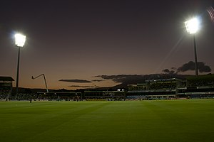 Bellerive Oval - Bellerive Oval with lights on, 2011