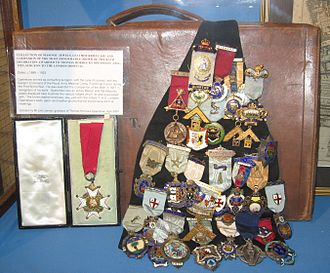 Thomas Horrocks Openshaw - Openshaw's Companion of the Bath and his Freemasonry medals on display at the Royal London Hospital