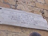Oratorio de Fray Luis de León. La Flecha, Cabrerizos (Salamanca).JPG