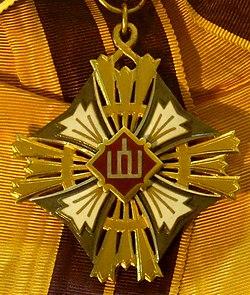 Order of the Lithuanian Grand Duke Gediminas grand cross badge (Lithuania before 1940) - Tallinn Museum of Orders.jpg