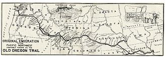 Oregon Country - The Oregon trail started in St. Louis, Missouri.