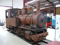 050T Orenstein & Koppel locomotive preservedin the railway museum of Froissy