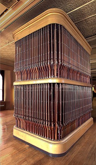 Springfield Armory - Image: Organ of Muskets, Springfield Armory Museum