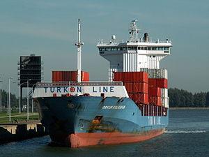 Orkun Kalkavan at the Berendrecht lock, Port of Antwerp 10-Oct-2005.jpg
