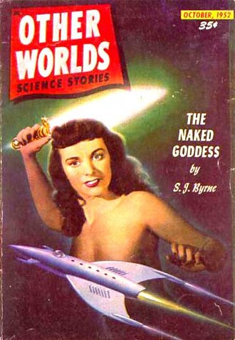 Science fantasy - Cover of Other Worlds, October 1952