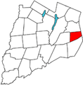Otsego County outline map Decatur red.png