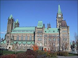 Vista do Parlamento do Canad�.