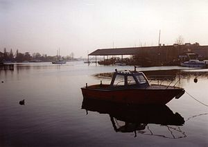 Oulton Broad - Oulton Broad, September 1995. From the Commodore Road edge
