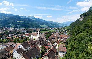 Outline of Liechtenstein - Overlooking Vaduz