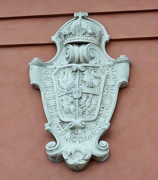 Archivo: Płaskorzeźba godła wazów Wieża Zygmuntowska warszawa.jpg