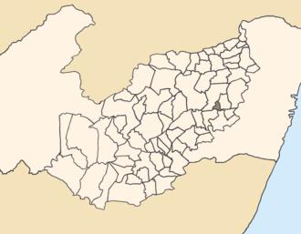 Camocim de São Félix - Location of Camocim de São Félix within Pernambuco.