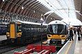 Paddington - GWR 387134 and Heathrow Express 332004.JPG