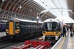 Paddington - GWR 387134 and Heathrow Express 332004.JPG