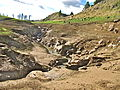 Pakihi Stream runs into sinkhole.JPG
