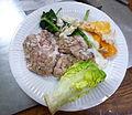 Paléo - Cervelle de porc avec des œufs et du cresson (15618806928).jpg