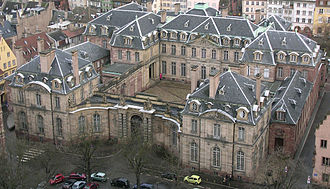 Robert de Cotte - Palais Rohan, Strasbourg, for Armand Gaston Maximilien, prince de Rohan, bishop of Strasbourg (planned 1727–8, built 1731–42)