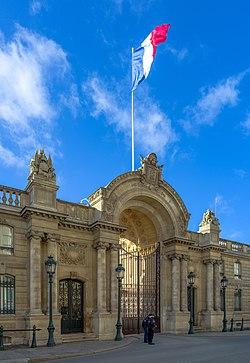 Palais de l'Élysée Rue du Faubourg Saint-Honoré Paris.jpg