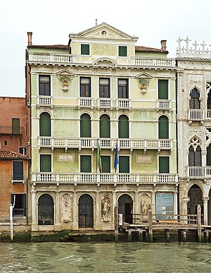 Antonio Visentini - Palace Giusti on Grand Canal in Venice, facade by Antonio Visentini