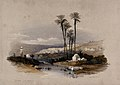 Palm trees at Jenin, possibly the site of ancient Jezreel. C Wellcome V0049488.jpg