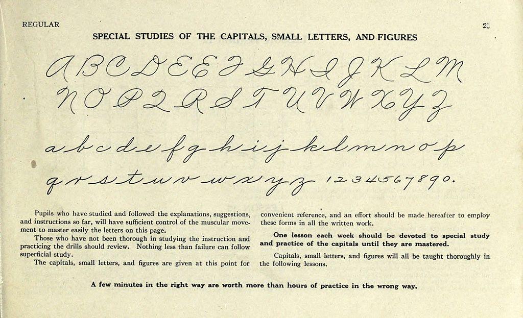 Printable Worksheets palmer handwriting worksheets : File:Palmer Method alphabet.jpg - Wikimedia Commons