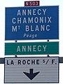 Panneau N503 Annecy Chamonix Mt Blanc La Roche-sur-Foron.jpg