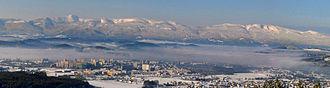Jelenia Góra - Jelenia Gora Panorama, view from Mount Szybowcowa (Schieferberg)