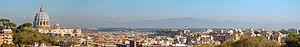 Panorama of Rome view from Via San Lucio
