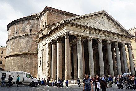 The Pantheon in Rome, Italy, now a Catholic church Pantheon Rome 04 2016 6460.jpg