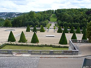 Parc de Saint-Cloud - The location of the Chateau is marked by the yew trees