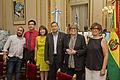 Parodi, Flores Enriquez, Gareca, Guariglio, Osinaga y Encina - Parodi se reunió con Liborio Flores Enriquez (16696526322).jpg