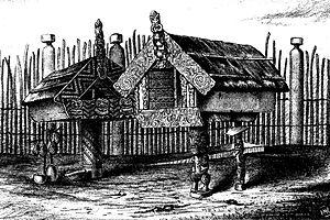 Māori culture - Pataka with tekoteko