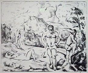 Les Baigneurs (Grande planche)