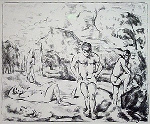 Garman Ryan Collection - Image: Paul Cézanne Baigneurs (Grande planche)