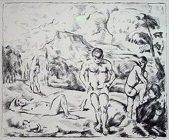 Garman Ryan Collection - Image: Paul Cézanne Baigneurs (Grande planche)
