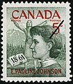Pauline Johnson Canada Canadian commerative stamp issued 1961-03-10 celebrating centennary of her birth original file name s000442k.jpg
