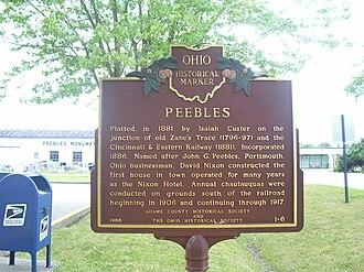 Chautauqua - Peebles, Ohio, was a site of Chautauquas 1906–1917