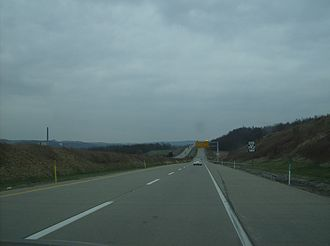 Interstate 376 - Eastward along the toll section of I-376 (then PA 60) in Lawrence County's North Beaver Township.