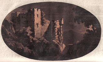 William Gilpin (priest) - Image: Penrith castle 18th century