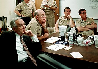 Michael Mullen - Mullen (seated third from left) at the Pentagon during the September 11 attacks in 2001