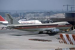People Express Boeing 747 at London Gatwick in June 1983.jpg