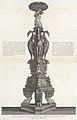 Perspective view of the same candelabrum, from 'Vasi, candelabri, cippi, sarcofagi, tripodi, lucerne, ed ornamenti antichi, vol. II' (Vases, candelabra, grave stones, sarcophagi, tripods, lamps, and ornaments) MET DP105017.jpg