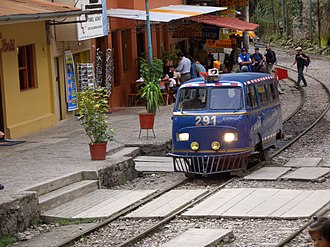 3 ft gauge railways - A railbus on the Ferrocarril Santa Ana near Machu Picchu