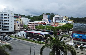 Petron Corporation - Petron oil station located beside the Daily Express building in Kota Kinabalu, Sabah, Malaysia.