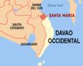 Ph locator davao occidental santa maria.png