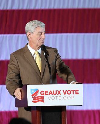 "Phil Bryant - Bryant speaking at the Louisiana Republican Party ""Geaux Vote"" rally in December 2016"