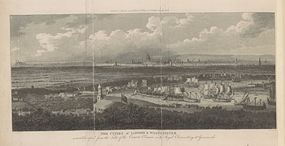 Vista de Londres desde Greeenwich, Robert Phillips, 1804.
